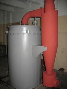 Паровой водогрейный котел отопления на твердом топливе